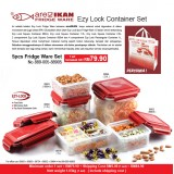Ezy Lock 5pcs Fridge Ware Set